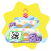 Wwf anniversary celebration cake