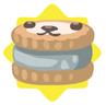 Grey petling biscuit