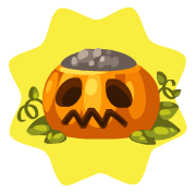 Jack o lantern flower pot