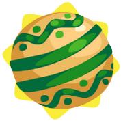 Round green bauble