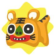 Oriental tiger plushie
