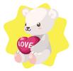 Lovely white bear plushie