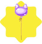 Carnival Purple Balloon