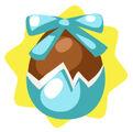 Homegrown Blue Chocolate Egg