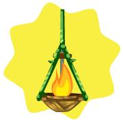 Jungle hanging lamp