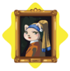 Pet with a pearl earring painting