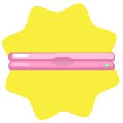 Hot pink laptop