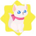 White kitten plushie