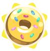 Yellow donut wall sticker