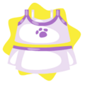 Purple tennis outfit