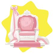 Pink elegant throne