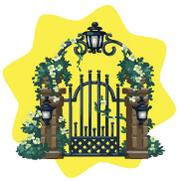Garden grand entrance gate