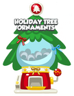 Holiday tree ornament mystery egg machine