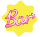 Restaurant bar neon sticker