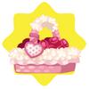 Roses in pink basket