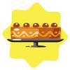 Big orange cake