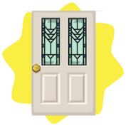 Vintage cream door