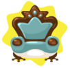 Frog prince blue armchair