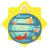 Luminous fish japanese lantern