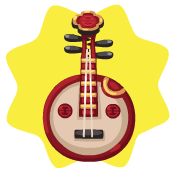 Chinese moon guitar