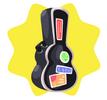Black guitar case
