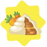 Carrot cake poo