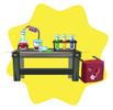 Mad scientist laboratory table