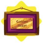 Framed Golden Ticket