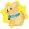 Yellow puppie plushie