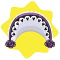 Purple gothic bonnet