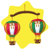 Toy shop hot air balloon mobile