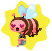 Buzzing Gemma Bee