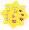 Luminous pink heart string