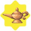 Magic genie lamp