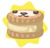 Light brown petling biscuit
