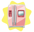 Pink Luxury Fridge