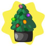 Toy shop miniature christmas tree