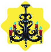 Romantic vampire chandelier