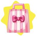 Little white striped accessories bundle