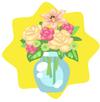 Autumn flower vase