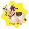 Farm milking cow