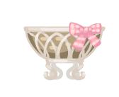 Bonsai Pot Pink Ribbon