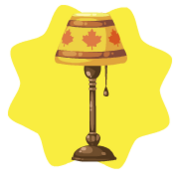 Maple leaf floor lamp