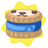 Blue petling biscuit
