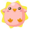 Pink chickadee egg