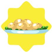Holiday feast roast potatoes