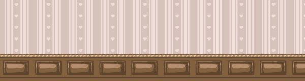 Valentine cream striped wallpaper expanded