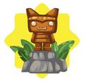 Pet Tiki Statue