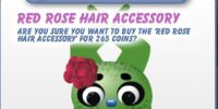 Red Rose Hair Accessory