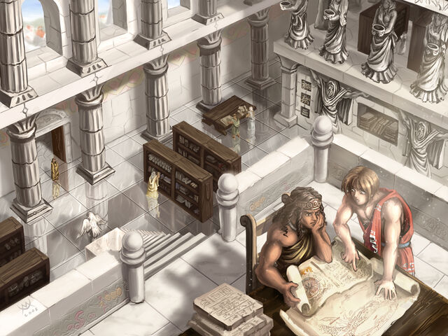 File:Studying Ancient Writings by maxarkes.jpg